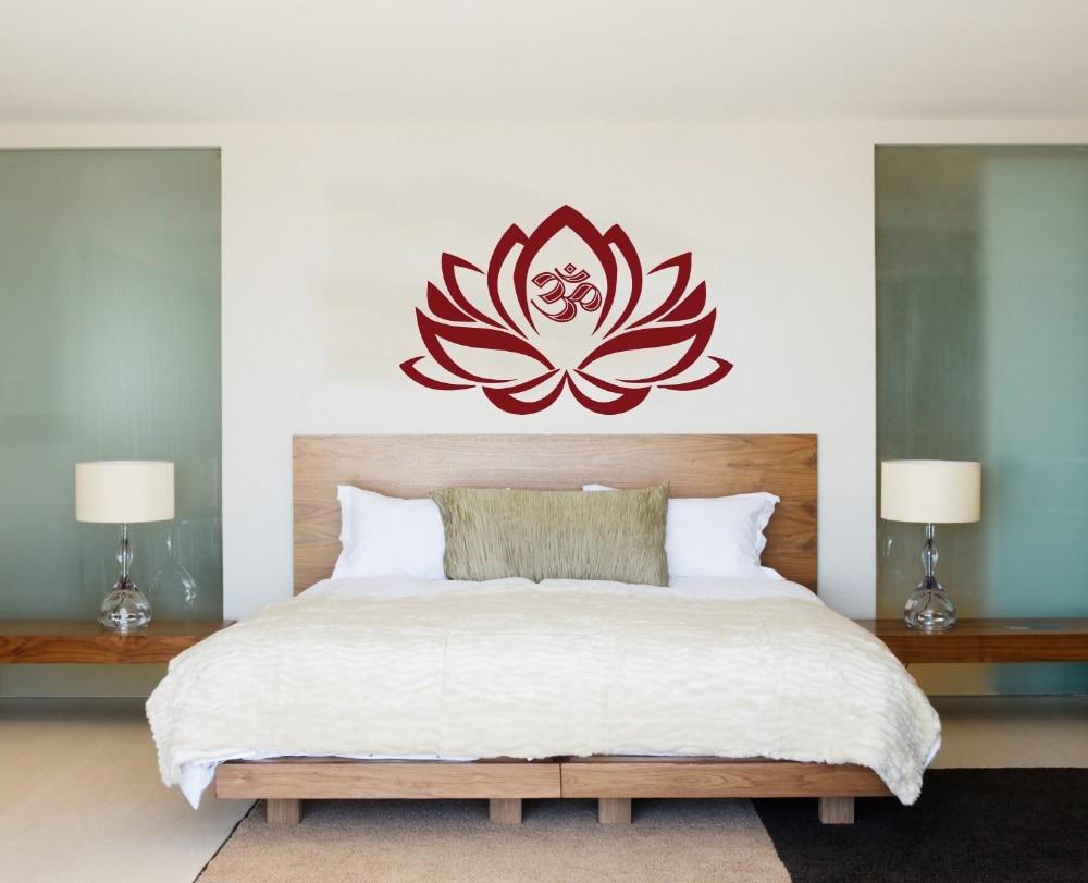 S/L modernen lotus blume wandaufkleber, Om Zeichen wand kunst für ...