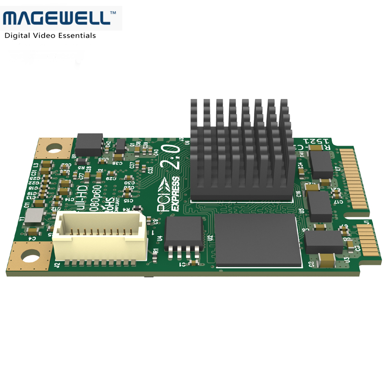 US $259 0  Magewell Pro capture mini HDMI Capture Cards One channel HD  capturecard HDMI+embedded audio-in Video & TV Tuner Cards from Computer &
