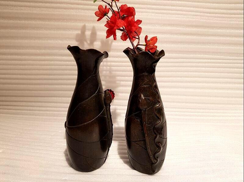 Bronze home decoration vase (4)