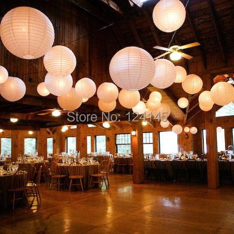 10 pcs/lot 12 inch(30cm) Chinese/Japanese Paper Lantern Lamp Lanterns Random Color + Led Keyring Bulbs Wedding Party Decoration - Favor gifts store