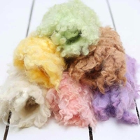 Curly Felted Wool Layer Baby Photography Props Wool Baby Blanket Posing Nest Basket Stuff, #P2164