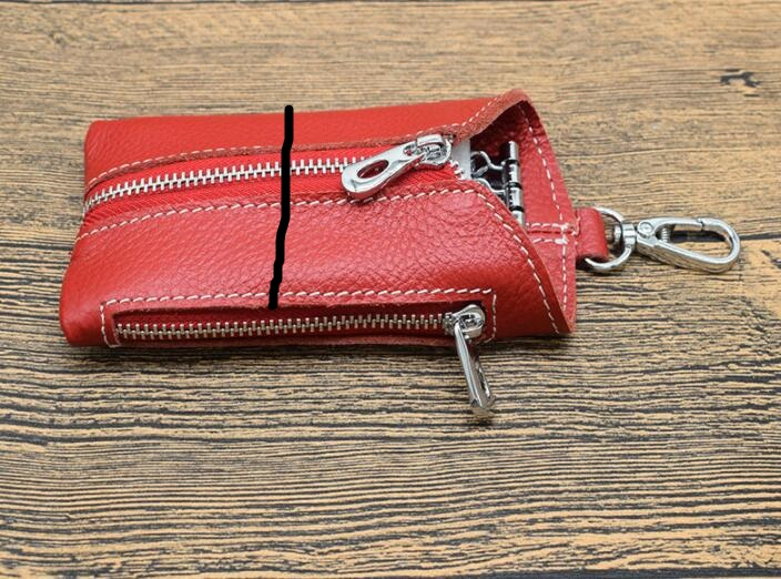 New key bag male multi function suede leather zipper leather keychain