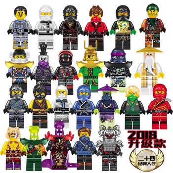 New Ninjago Figures With Weapons Movies Kai Cole Jay Zane Lloyd Nya Wu Snake Compatible With LegoeING Building Blocks Kids Toys legos for boys ninjago