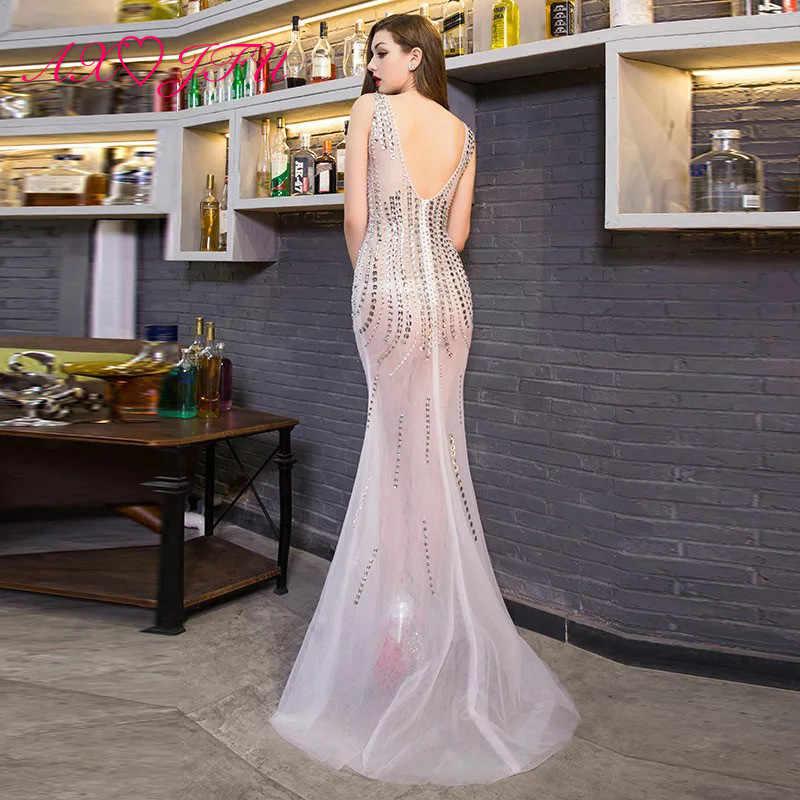 AXJFU сексуальное вечернее платье с v-образным вырезом без рукавов, сценическое платье русалки, винтажное пляжное платье принцессы с бисером, вечернее платье