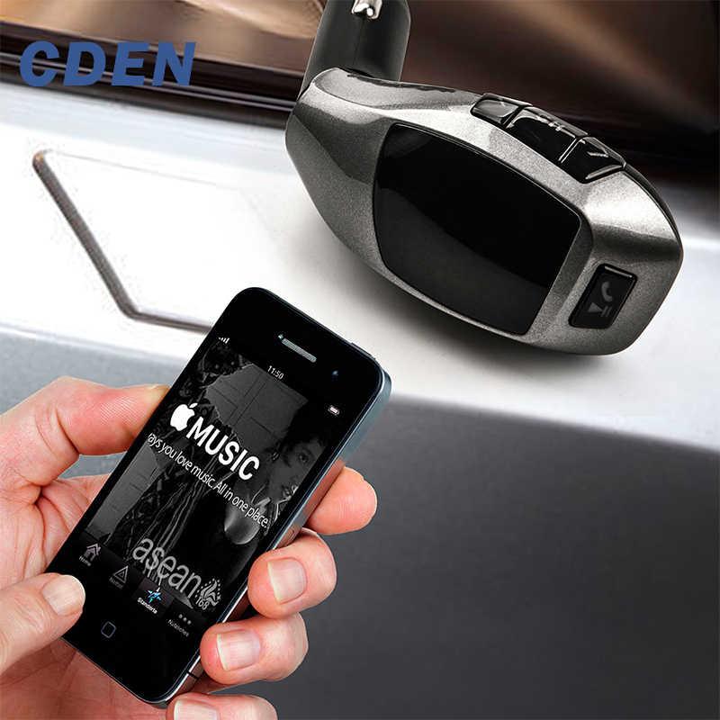 Xe ô tô Không Dây Bluetooth Phát FM MP3 Đài Phát Thanh Adapter Người Chơi Phụ Kiện Xe Hơi với Thẻ Nhớ TF U Disk Dành Cho iPhone Samsung X5 bởi CDEN