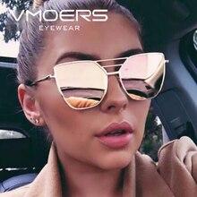 VMORS Ladies Pink Mirror Sunglasses Women Brand Lunette Female 2018 Sun Glasses For Women Aviator Shades Oculos de sol feminino