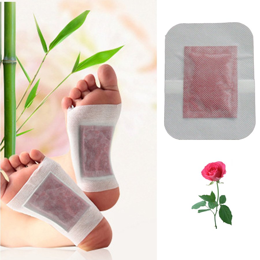 30Pcs 2In1 Rose Aroma Bamboo Vinegar Detox Foot Patch Bamboo Pads Patches With Adhesive Improve Sleep Beauty Slimming Z06130 kongdy brand 10 bags 20 pieces adhesive sheet bamboo vinegar foot patch removing toxins foot plaster foot cleansing pads