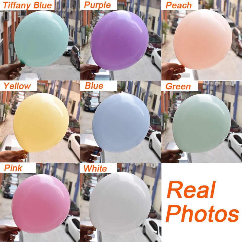 Bolas infláveis de macaron pastel de 12/18/36 polegadas, balões de arco-íris de unicórnio para festa de aniversário, bolas infláveis
