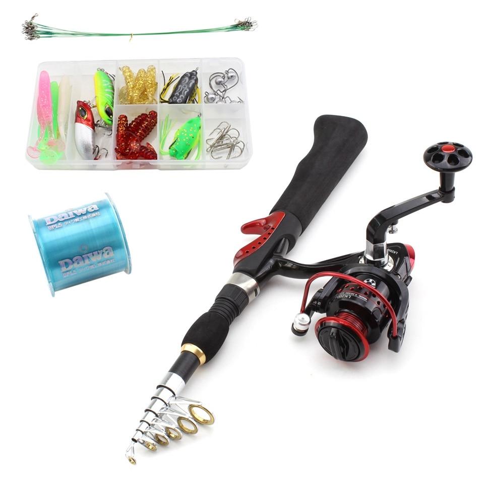 Reel Combo Kit Completo Engrenagem Spinning Reel