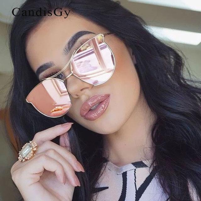 Transparent 2016 New Cat Eye lunettes de Soleil Type Tendance Femmes Corée  Marque Hommes Métal Designer bedb80423028