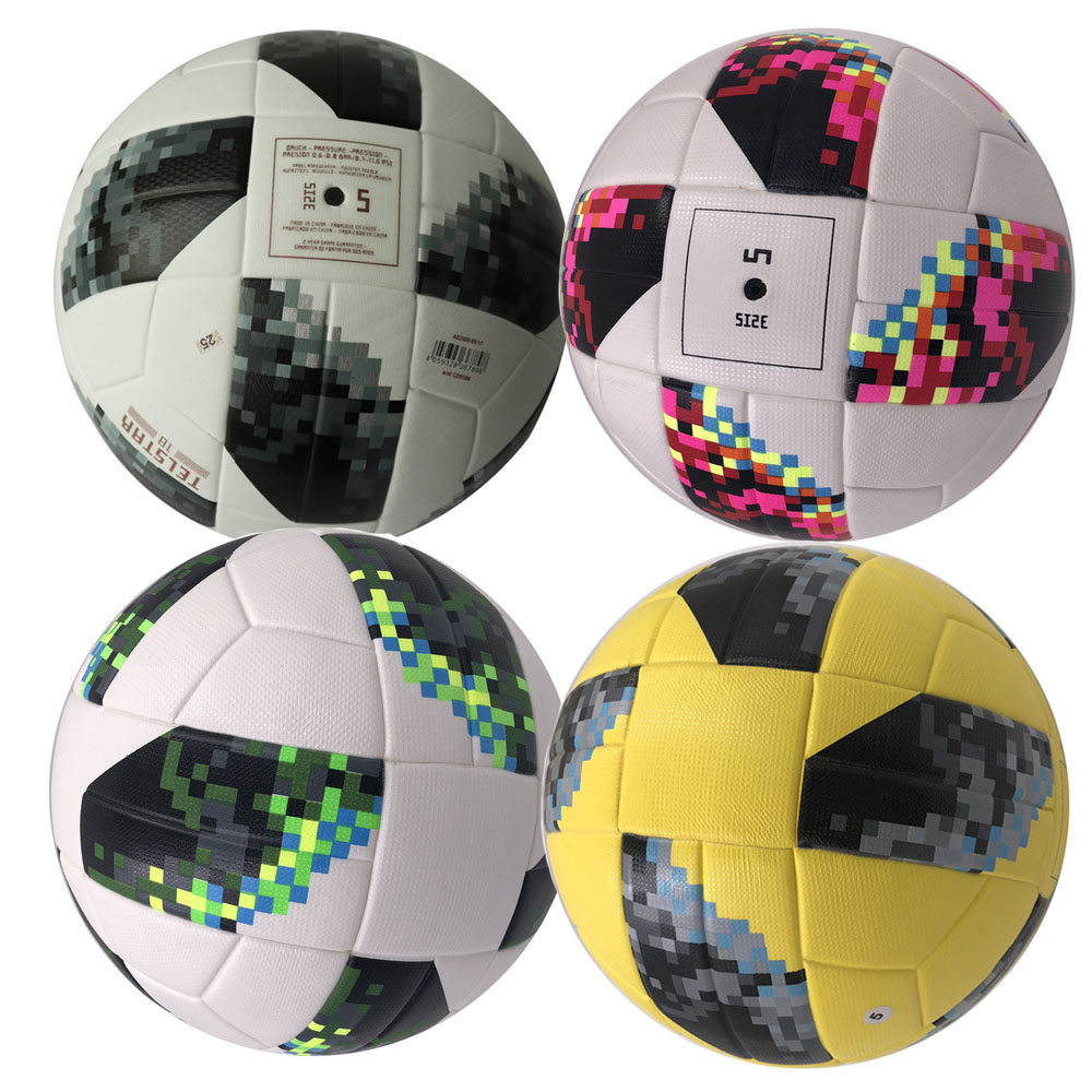 2018 Premier PU Soccer Ball Official Size 5 Football Goal League Outdoor Match Training  ...