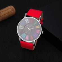 Милер многоцветный римскими цифрами женские часы Для женщин часы Мода наручные часы Для женщин часы zegarek damski reloj mujer