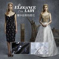 New Jacquard Brocade Fabric High grade Magnolia Satin Weaving Jacquard Fabric Dress Cheongsam Chinese Brocade Fabric Clothes