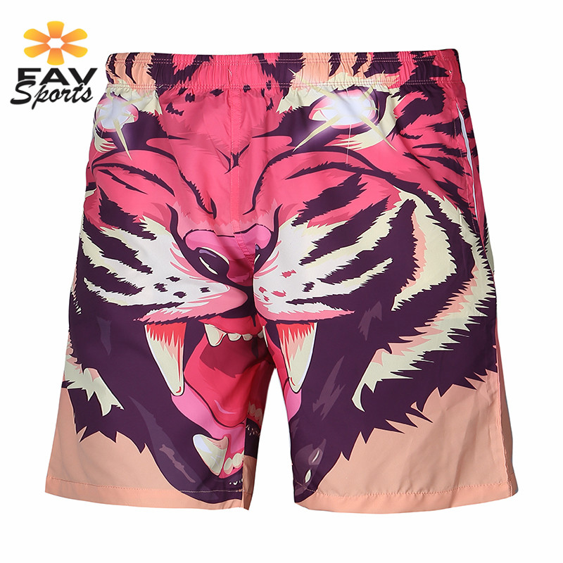 Elastic Beach   Shorts   Men Surf   Board     Shorts   Quick Dry 3D Print Swimwear Sports Jogger Trunks Running Travel Beach Suring Pants