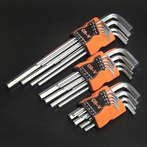 Image 5 - FINDER 9 sztuk podwójny koniec L typ śrubokręt klucz sześciokątny zestaw klucz imbusowy sześciokątne płaskie kulki Torx gwiazda głowy klucz zestaw kluczy narzędzia ręczne