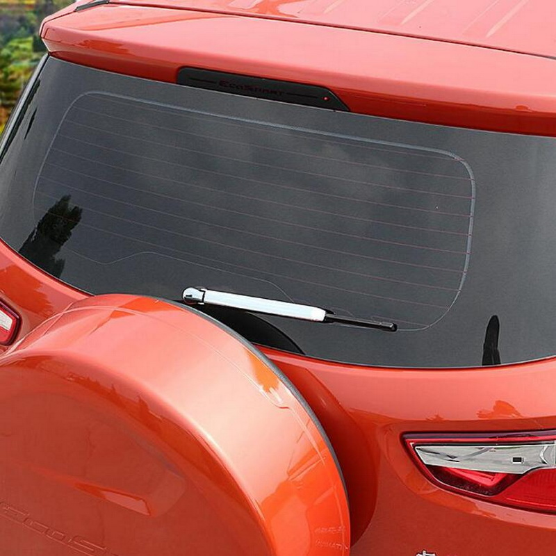 ABS chrome rear tail wiper cover for ford ecosport 2013 14 15 16 17,car-styling window wipe trim plastic plating cover stickers