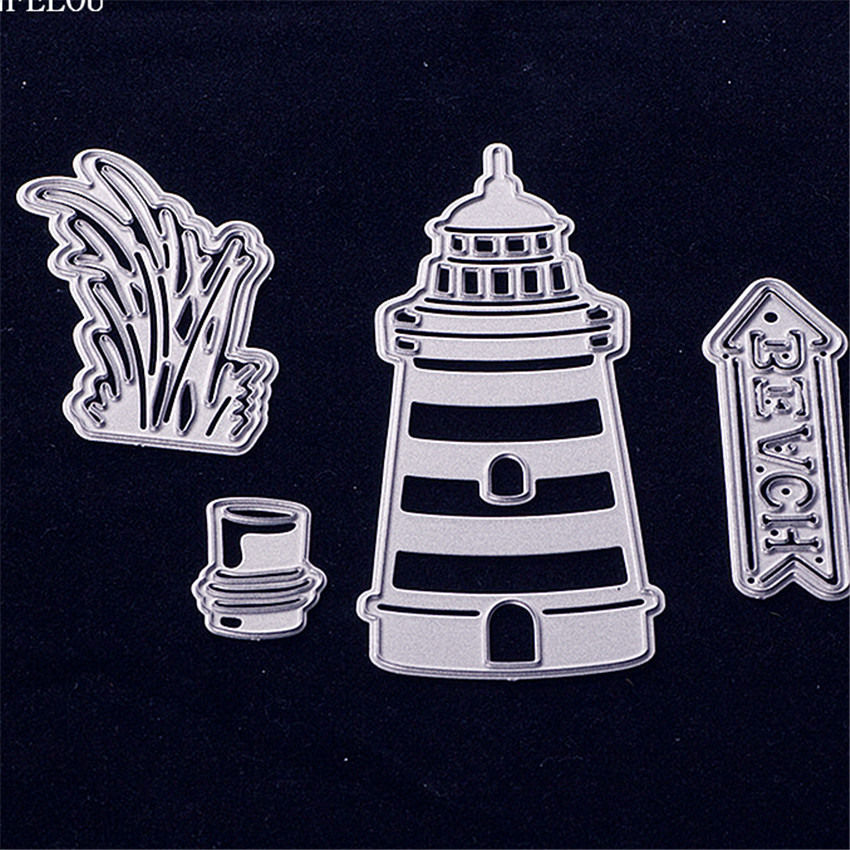 PANFELOU Christmas The lighthouse sign Scrapbooking DIY album cards paper die metal craft stencils punch cuts dies cutting
