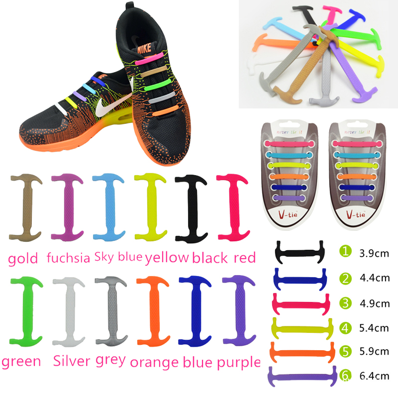 12Pc/Set Adult Children Elastic Silicone Shoelaces Athletic Running Lazy No Tie Shoe Lace All Sneakers Fit Strap Shoeslace 11 11 16pcs set 2017 new sneakers fit strap colorful shoelaces design lock flat lazy no tie shoelace elastic fit for all sneakers