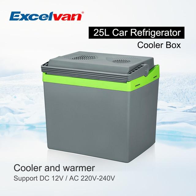 25L Portable Refrigerator Thermoelectric Fridge 12V Cooler Box Warmer Dual Purpose High Capacity Travel Fridge for Car Home
