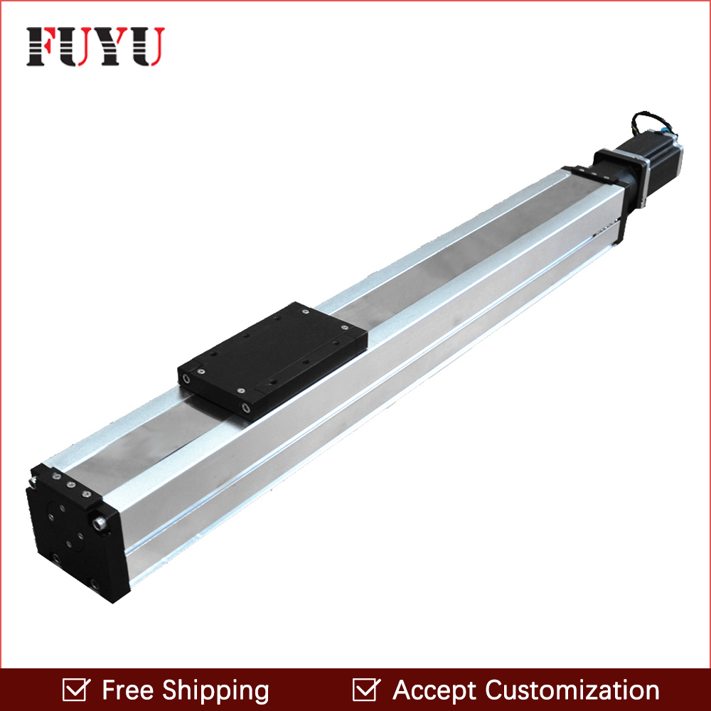 Free shipping Wholesale prices 900mm stroke motorized ballscrew linear slide for engraving free shipping 900mm travel aluminium motorized linear slide for cnc machine