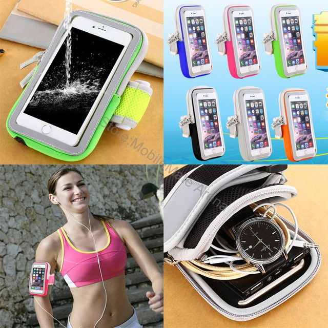 Armband Arm Band Waterproof Phone Case Cover Running Sports Belt Pouch Bag For Iphone 7 6 6s Plus/Xiaomi Redmi Note 4 3 Pro Mi5
