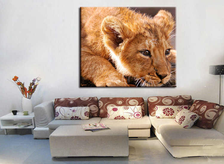 1 pieces / set Lion Canvas Art Print Painting Poster Wall Pictures for Home Decoration wall decor
