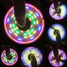 2017 Rainbow LED Light Change Hand Spinner Tri Fidget EDC Toy Focus ADHD Autism Color Random