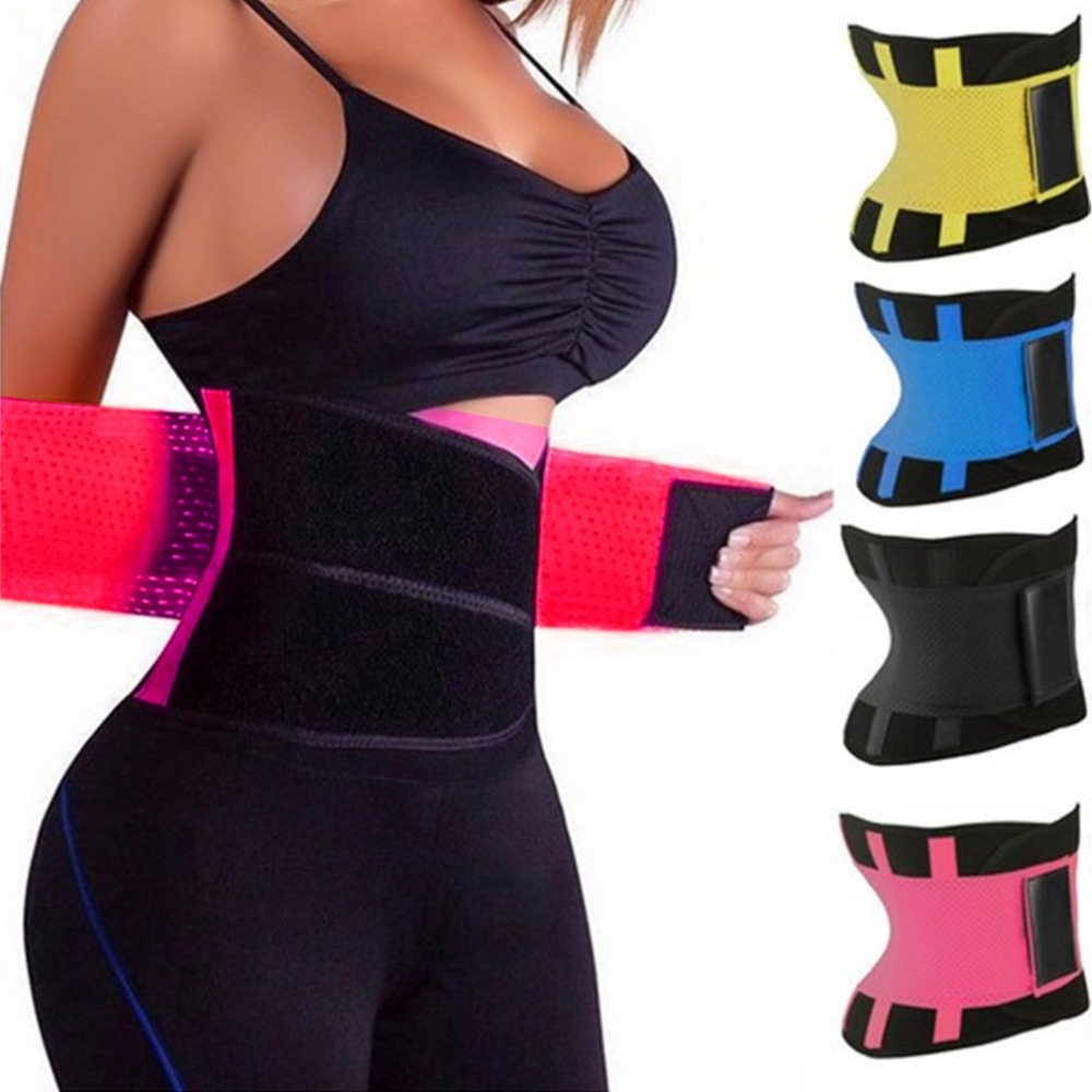 HOT SALE Adjustable Elstiac Waist Belt Lumbar Back Support Exercise Belts Brace Slimming ...