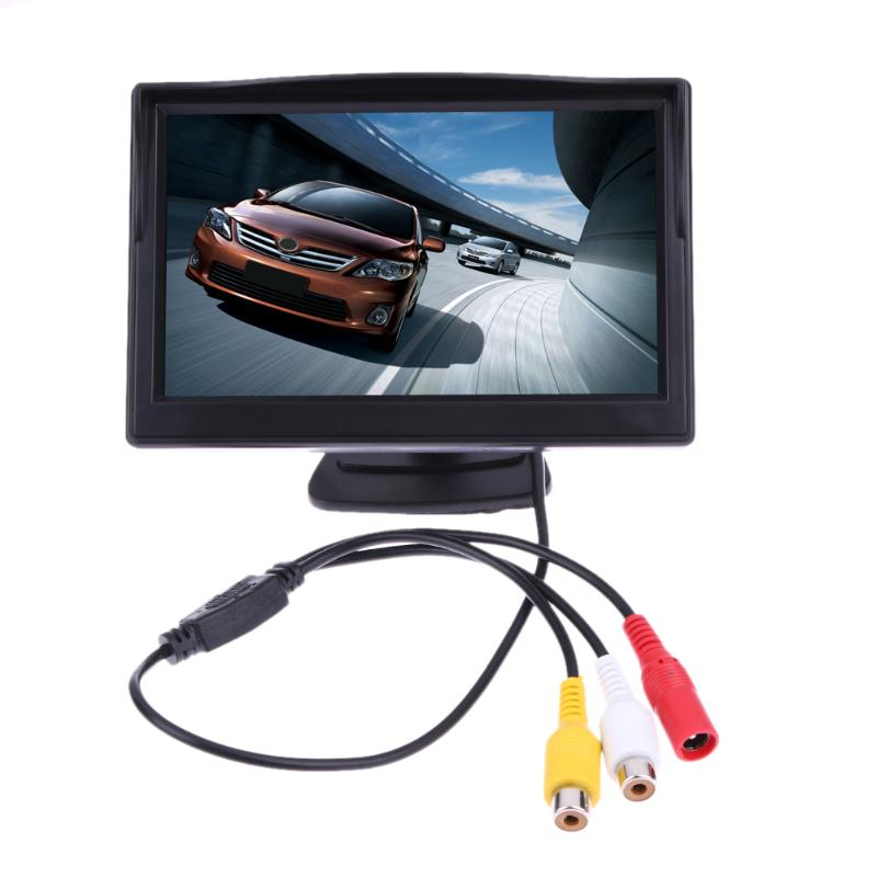 VODOOL 5 Inch TFT LCD Rear View Display Monitor Waterproof Night Vision Reversing Backup Rearview Camera Quality Car Monitors in Vehicle Camera from Automobiles Motorcycles