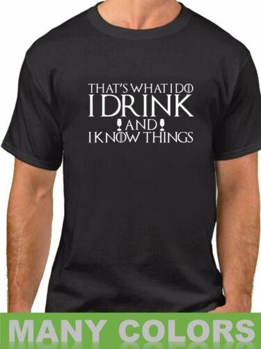 Homme Game of Thrones je bois et je sais des choses T-Shirt Tyrion T-Shirt 100% coton T-Shirt, été T-Shirt col rond, 2019 t-shirts chauds