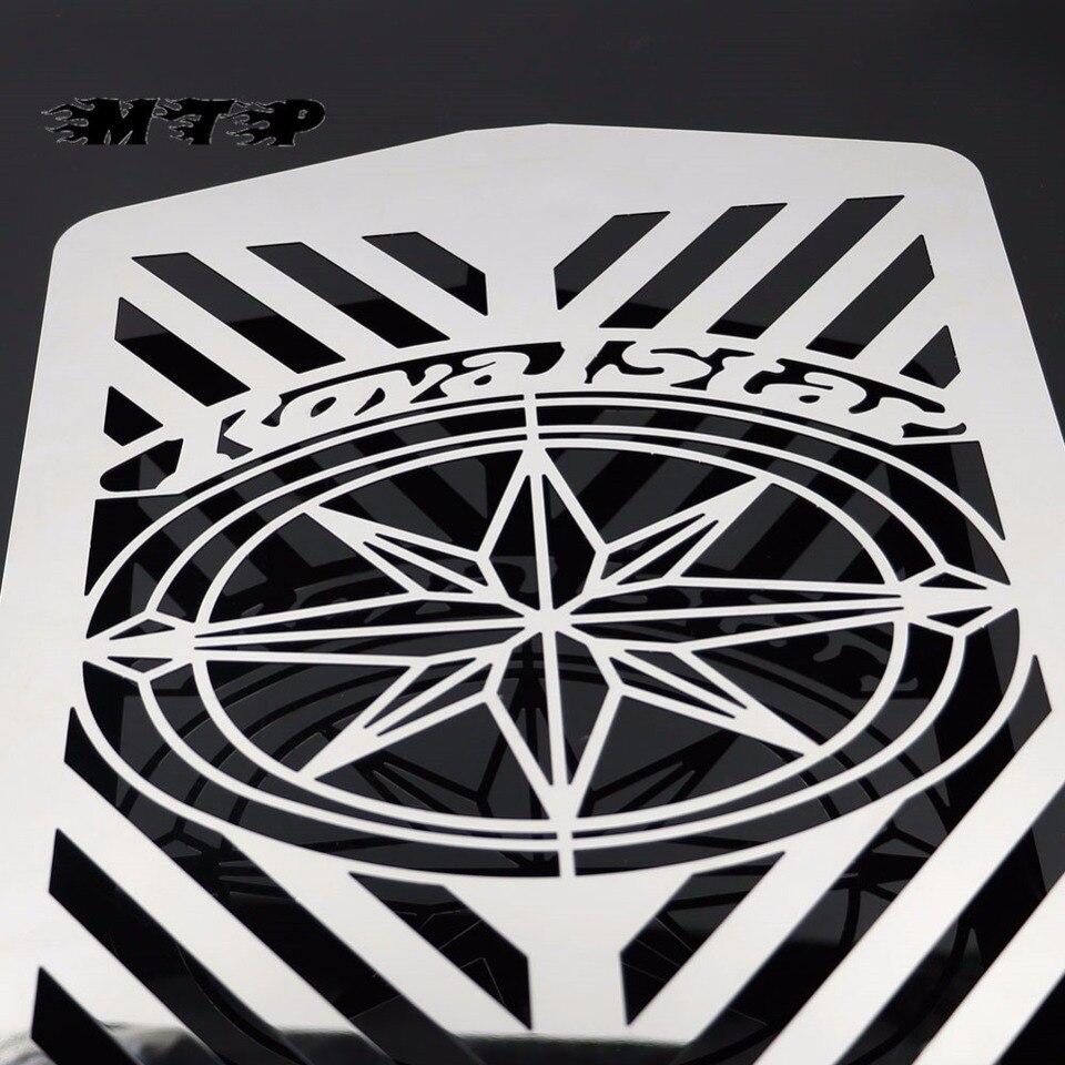 Flame Radiator Grille Guard Cover Protector For Yamaha XVZ13 Royal Star A Moto
