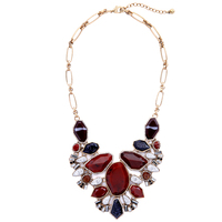 Red Resin Geometric Big Chunky Necklace Women Collares Fashion Party Maxi Statement Necklace Brand Jewelry