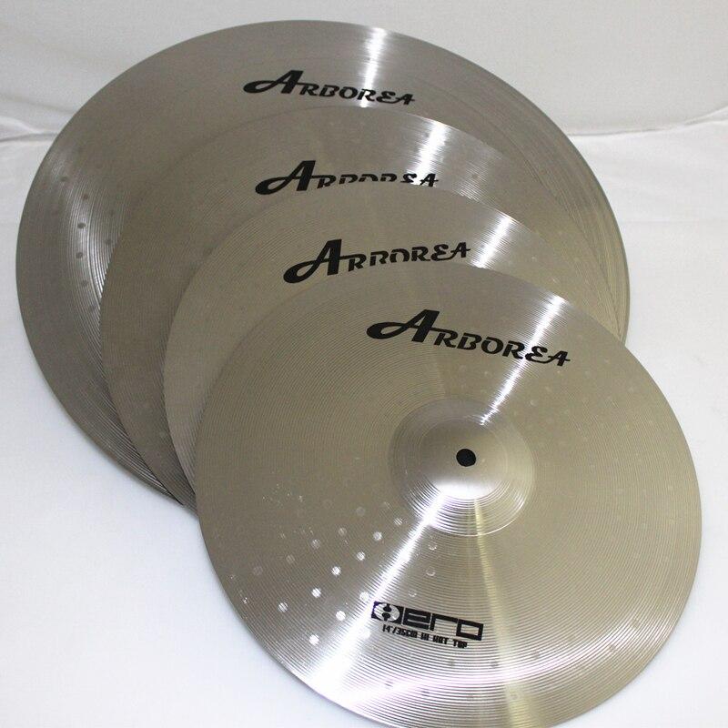 Arborea cymbals Hero Set For Beginner 14 hihat 16 crash 18 crash 20 Ride Bag