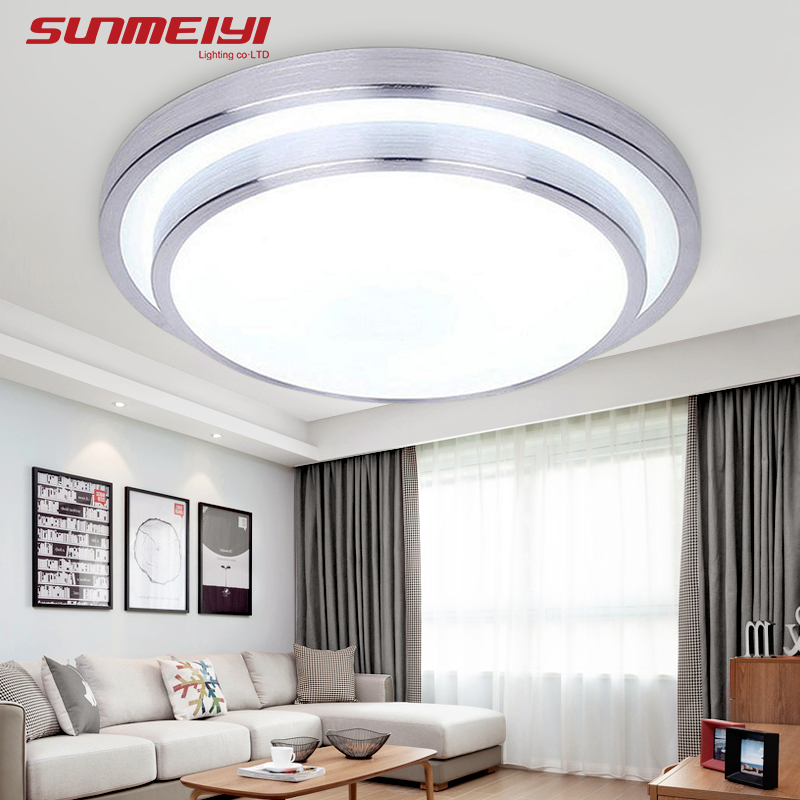 Ceiling Lights & Fans Led Ceiling Light Modern Panel Lamp Lighting Fixture Living Room Bedroom Kitchen Surface Mount Flush Remote Control Crazy Price Ceiling Lights