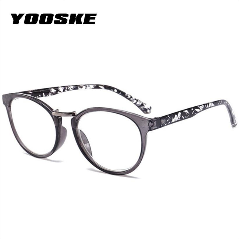 YOOSKE Women Cat Eye Reading Glasses Vintage Presbyopia Eyeglasses Fashion Flower Print Diopter +1.5 +.2.0+2.5+3.0 +3.5 +4.0