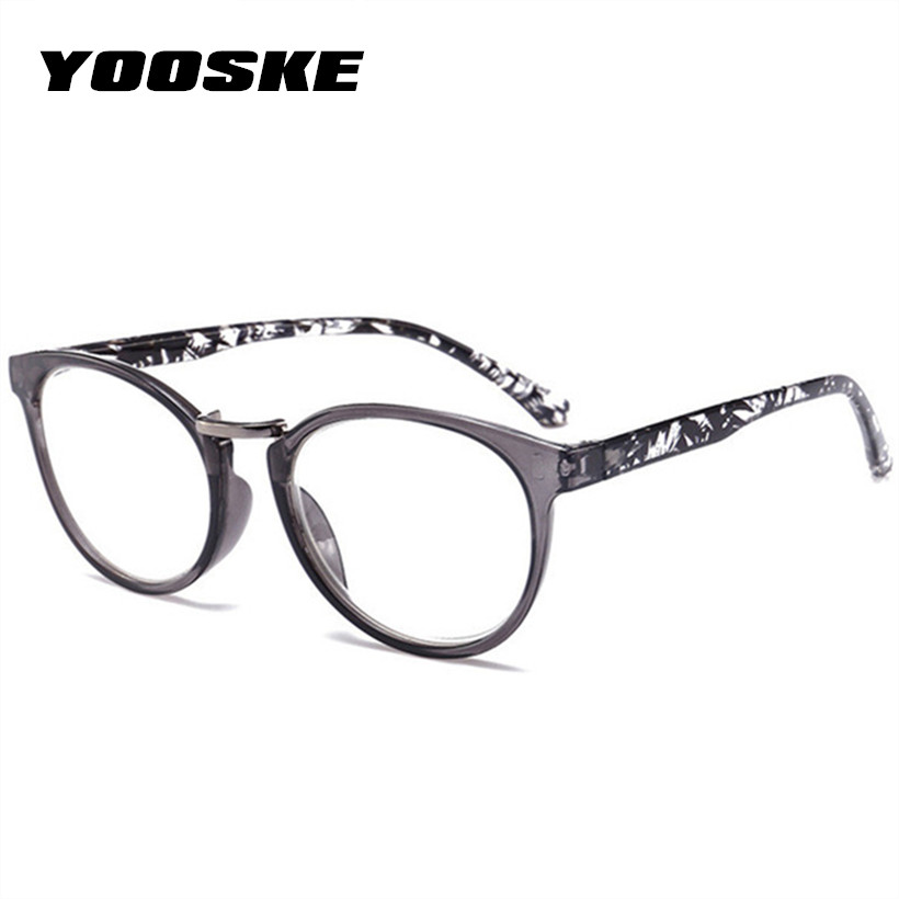 YOOSKE Women Cat Eye Reading Glasses Vintage Presbyopia Eyeglasses Fashion Flower Print Diopter +1.5 +.2.0+2.5+3.0 +3.5 +4.0