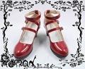 Danganronpa Celestia Ludenberg red Gothic lolita cos Zapatos de Cosplay Del Anime Por Encargo