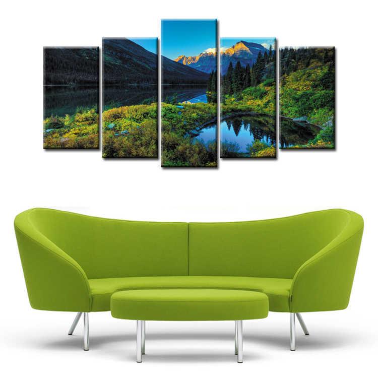 フレーム 5 パネル風景シリーズ壁アート油絵キャンバスプリント絵画の写真の装飾絵画大リビングルーム