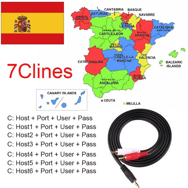 2018 spanien Portugal Cccam Gültig 12 monate AM 7 Clines Stabile kanäle Für V8 Super DVB-S2 Satellitenempfänger V7HD V8 Finder