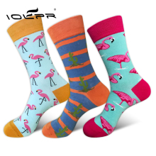 Unisex Harajuku happy socks men cotton sock male flamingo couple popsoket for casual Flamingo