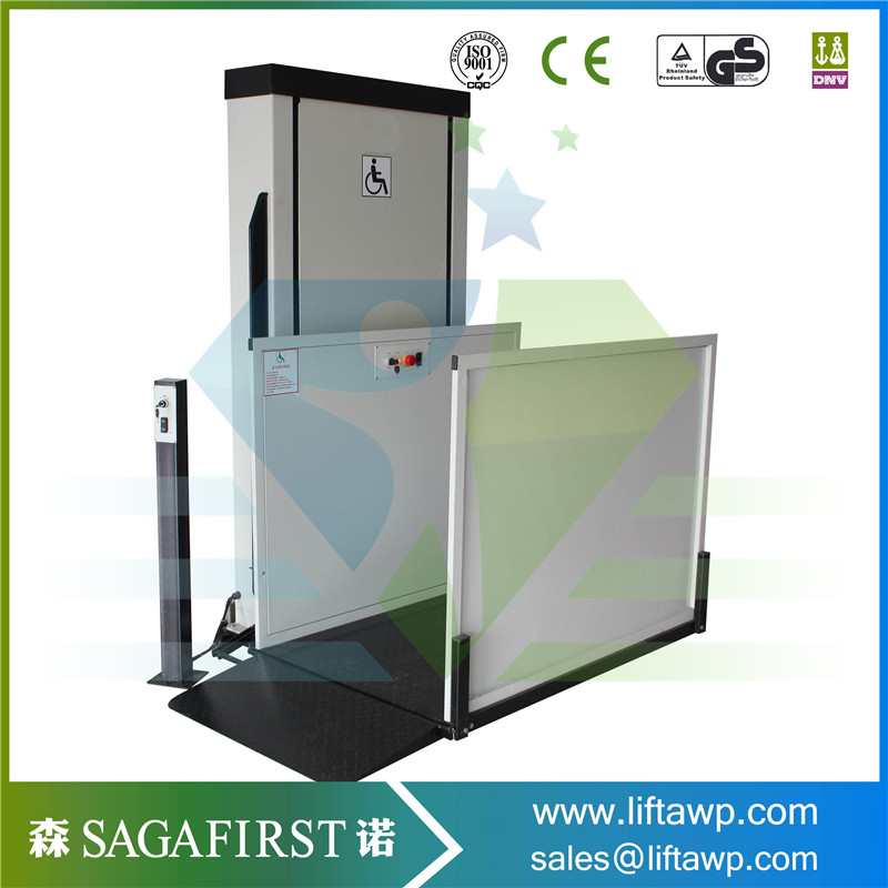 Customized Height Electric Home Vertical Disable Wheelchair Elevator
