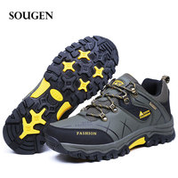 2018 Hiking Boots Winter Male Boots Adult Men Casual Shoes Mens Moto Boot Puls Big Size Footwear Outdoor Bot Camping Mens 39 47