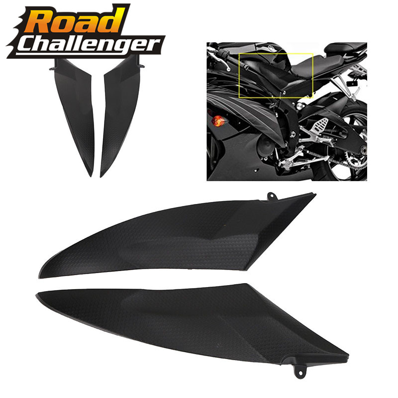 Black Tank Side Cover Panel FAIRING For YAMAHA YZF-R6 2006-2007 YZFR6 06-07
