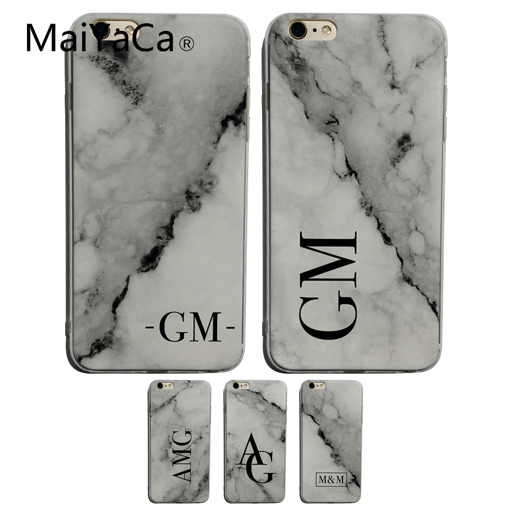 ecafd6e0dd1 Detail Feedback Questions about MaiYaCa Personalised Gift Custom name Marble  for iphone 5 6 SE 7plus 8plus 7 cases Phone Case Cover Marble initials on  ...