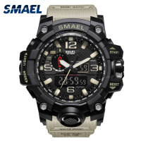 New Men Sports Watch 50m Waterproof S Shock Wristwatch LED Quartz Clock Big Watch For