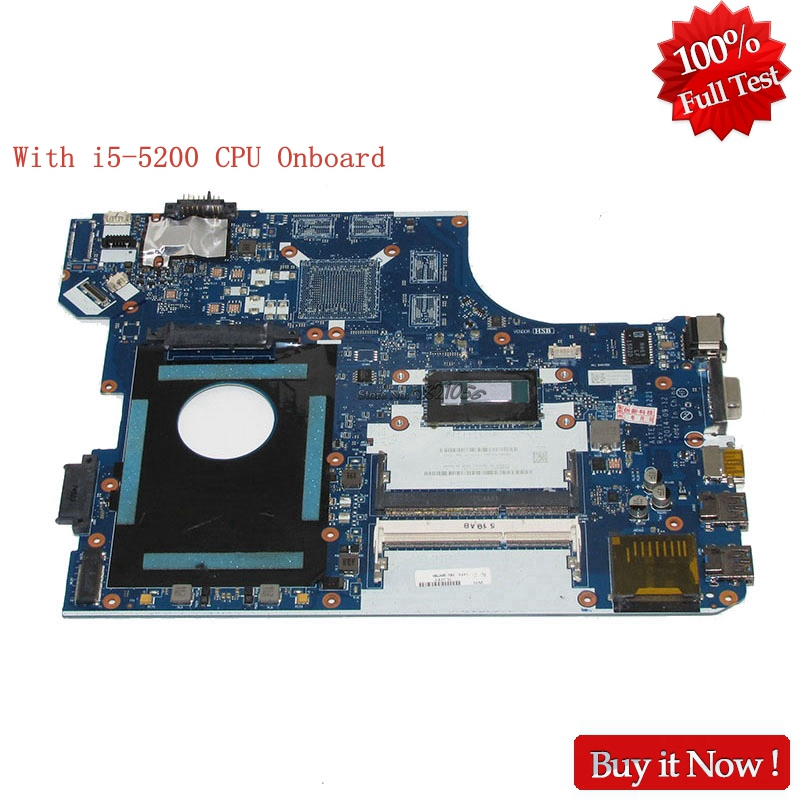 Nokotion NM A221 00HT638 FOR Lenovo Thinkpad E550 Laptop motherboard With i5 5200U 2.2Ghz CPU Onboard