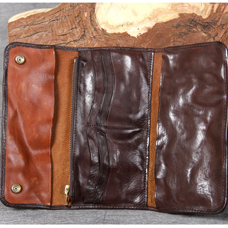 Vintage Leder Retro Brieftasche Alten Rindsleder Machen Männlichen Coffee Lange Bjyl Kopf Handtasche d8vwOxdqf