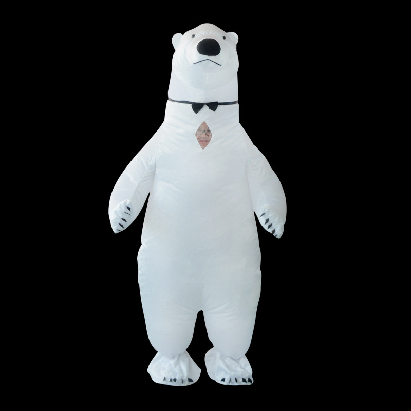 White Polar bear Inflatable Cosplay Costumes For Adult Anime Dress Up Halloween Christmas Party Clothes Inflated Garment Fun Toy