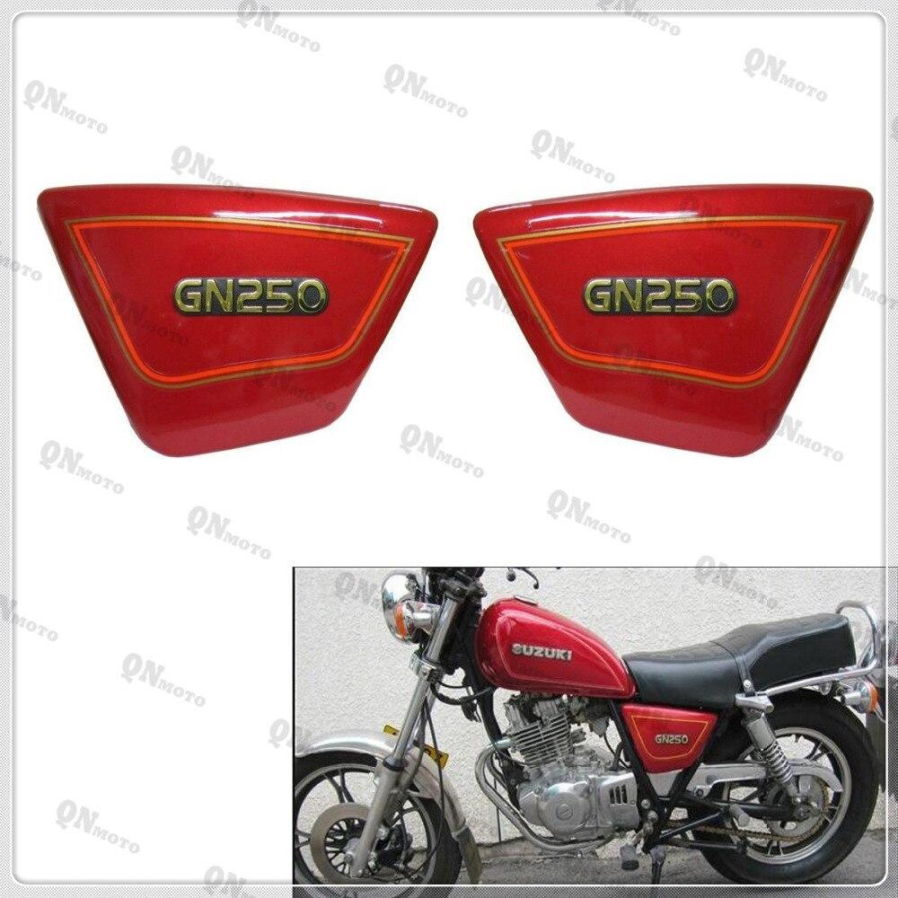 цена на GN 250 GN250 Right & Left Frame Side Cover Panels Black Battery Cover For GN250 GN 250 1982-2001 90 91 92 93 94 95 96 97 98 99