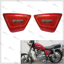 GN 250 GN250 Right & Left Frame Side Cover Panels Black Battery Cover For GN250 GN 250  1982-2001 90 91 92 93 94 95 96 97 98 99 full fairing kits red black zzr 1100 90 93 94 95 96 97 98 99 00 01 full fairing kits for kawasaki zzr1100 zx1100 1990 2001